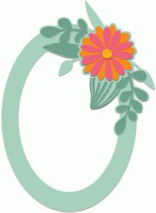 Silhouette Design Store - View Design #43223: oval daisy frame