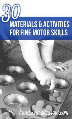 30 Materials & Activities to Promote Fine Motor Skills. This is an absolute SMORGASBORDE of fine motor activities!