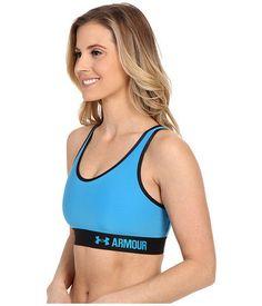 New Women's UA Under Armour Sports Bra Mid Impact Blue SMALL NWT 1273504 Bin 12 #UnderArmour