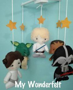 Star Wars Felt Mobile READY TO SHIP Baby's Room by mywonderfelt