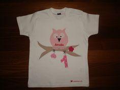 T-Shirts - Geburtstagsshirt mit Eule und eingesticktem Namen - ein Designerstück von naehdesigns bei DaWanda