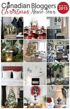 Beautiful collection of Christmas home tours. Lots of Christmas inspiration! @jliff