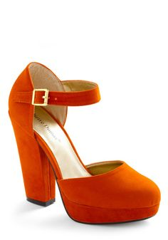 7c9a02aa2cc7 blood orange chunky heel. a beauty. Orange High Heels