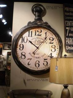 Large-Oversized-Pocket-Watch-Style-Vintage-Industrial-Wall-Clock
