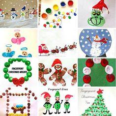 Christmas Fingerprint Crafts - UCreate