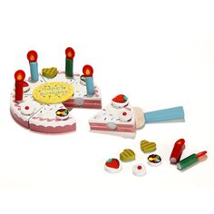 Jouet en bois : dînette anniversaire Multicolore - Gâteau d'anniversaire - Les jeux et jouets - Les cadeaux - Noël - Décoration d'intérieur - Alinéa
