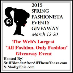 Spring Fashionista Events Giveaway 2015, Grand Prize Giveaway