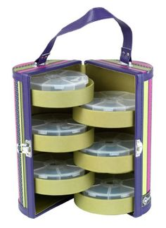 Exceptionnel Creative Options 700 706 Portable Bead And Embellishment Tower With 6 Round  Organizers,