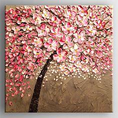 Peint à la main A fleurs/BotaniqueRéalisme Un Panneau Toile Peinture à l'huile Hang-peint For Décoration d'intérieur de 4424401 2016 à €44.58