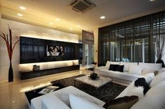 cortinas negras transparentes para salón