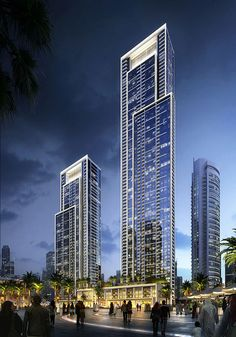 Residential Building Design, Glass Curtain Wall, High Rise Building, Skyscraper, Multi Story Building, Buildings, Architecture, Skyscrapers