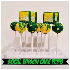 Southern California Edison Cake Pops by: Stick a Cake In It