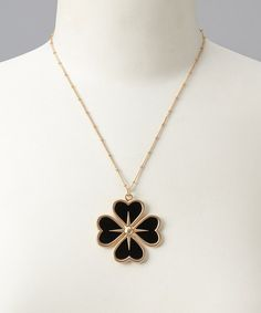 Take a look at this Black Clover Necklace by LAVISHY on #zulily today!