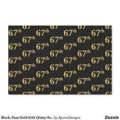 Black, Faux Gold (Sixty-Seventh) Event Tissue Paper Black Colour Background, Custom Tissue Paper, Corner Designs, Small Gifts, Just Go, Wedding Anniversary, Party Favors, Wrapping, Presentation