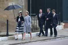 thebritishnobility:  Lady Sarah Chatto, Viscountess Linley, Viscount Linley, Daniel Chatto and Arthur Chatto at Easter Service, St. George's Chapel, Windsor, April 20, 2014