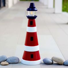 Terra Cotta Clay Pot Lighthouse More