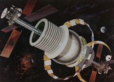 artist rendition of a bernal sphere colony designed for nasa
