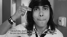 pierce the veil quotes black and white | gif love lost photography Black and White text sad music perfect rock ...