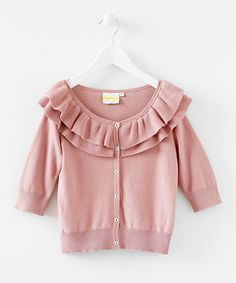 Take a look at this Pink Ruffle Cardigan - Infant & Girls by Blow-Out on #zulily #fall today!