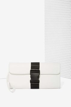 Nasty Gal x Nila Anthony Block On Vegan Leather Clutch