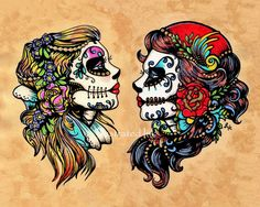 Hey, I found this really awesome Etsy listing at http://www.etsy.com/listing/111050601/day-of-the-dead-tattoo-flash-art