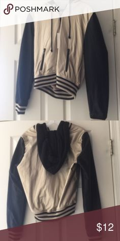 Black and gold jacket This black and gold faux leather varsity jacket is as comfy as can be. It is brand new with the tags still on it! Forever 21 Jackets & Coats