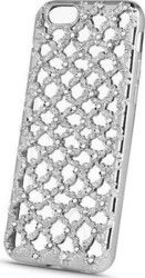OEM Back Cover Σιλικόνης Flower Diamond Silver (Huawei P8 Lite)