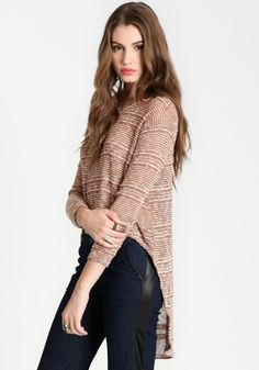 Stampede High-Low Sweater - $14.50 : ThreadSence, Women's Indie & Bohemian Clothing, Dresses, & Accessories
