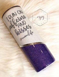 Loose Glitter, Glitter Cups, Purple Glitter, Diy Tumblers, Custom Tumblers, Glitter Tumblers, Tumbler Boys, Steel Gifts, Custom Cups