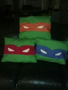 Homemade TMNT pillows I made for my boys