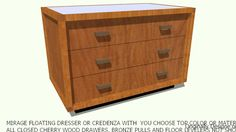DRESSER MIRAGE YOU CHOOSE TOP COLOR DESIGNED BY JOHN A WEICK RA - 3D Warehouse