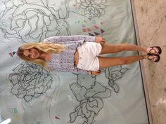 Whitney Eve top, Levi's shorts, Sanuk sandals