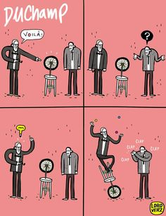 Duchamp for dummies ! www.loroverz.com #loroverz #tirinhas