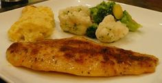 Blackened Swai fillets NOTE: Very mild fish and very reasonable. LOVE IT