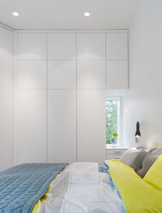 White wardrobes that look more like a wall than a robe. #wardrobe