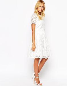 5f26a7283a6b Fashion Union Midi Skirt In Floral Broderie at asos.com. White Midi  SkirtWhite SkirtsSkirt MidiDresses ...