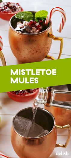 You Need A Mistletoe Mule In Your Hand ALLLL Christmas DayDelish This easy Christmas cocktail is the most festive drink to make during the holidays. The recipe is very similar to a classic Moscow Mule, but with a fun and cherry twist. Christmas Cocktails, Christmas Brunch, Holiday Cocktails, Christmas Drinks Alcohol, Xmas Party, Christmas Eve, Fancy Drinks, Yummy Drinks, Margaritas