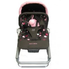 Maclaren coffee brown and powder pink rocker from baby product store on eBay.