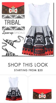 """Tribal!"" by shoaleh-nia ❤ liked on Polyvore featuring WithChic and Louis Vuitton"