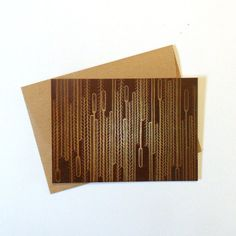 A6 postcard with nature inspired pattern, including a brown envelope handmade out of packaging paper.  Printed onto quality coated cardstock.    Also available at wholesale prices. | Shop this product here: spree.to/aks5 | Shop all of our products at http://spreesy.com/BleuWaveImages    | Pinterest selling powered by Spreesy.com