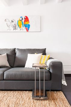 Living area in modern apartment in Gracia, Barcelona. Advanced Home Staging | Markham Stagers, Barcelona