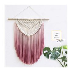 "Macrame Wall Hanging - Boho Nursery - Macrame Curtains - Macrame Patterns - Wallhanging - Modern Macrame - Home Decor - ""ALEXA"" Boho Tapestry, Wall Tapestry, Yarn Wall Hanging, Wall Hangings, Hanging Plant, Pot Hanger, Wall Hanger, Macrame Projects, Macrame Art"