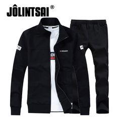 15d59943e07 3 Pieces Sets T-shirt+Hoodies+Pants Male Sportwear Brand Men Sporting Suit