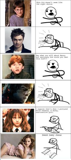 """Funny memes that """"GET IT"""" and want you to too. Get the latest funniest memes and keep up what is going on in the meme-o-sphere. Harry Potter Hermione Granger, Harry Potter Actors, Harry Potter Jokes, Harry Potter Fandom, Harry Potter World, Ginny Weasley, Rage Comics, Film Serie, Blond"""