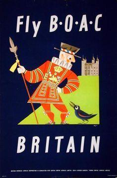 Fly BOAC •  Britain ~ Aldo Cosomati