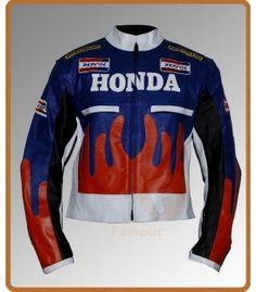 Honda Repsol Motorcycle Racing Leather Jacket