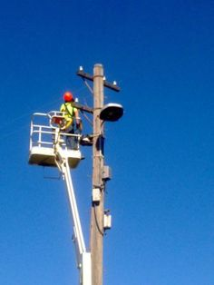 DCN Electrician Up High in the air  - DCN Electrical