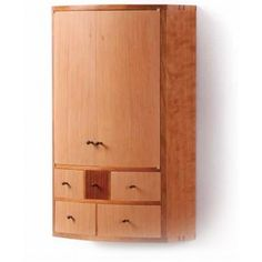 Add vacuum press veneering to your woodworking skill set by building a bowfront cabinet that features a subtle curve on its flush front and a beautiful mix of cherry, Douglas fir, and cocobolo. You'll learn how to make shop-sawn veneers for curved doors and drawers and a few joinery tricks for making drawers with curved fronts. This wall cabinet might be small, but it's chock-full of great techniques that open up a new world of woodworking.