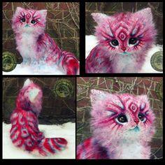 Pop-Tart Kitten by Wood-Splitter-Lee Cute Fantasy Creatures, Cute Creatures, Magical Creatures, Wood Splitter Lee, Cute Baby Animals, Cat Art, Art Dolls, Cute Cats, Fantasy Art