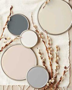 Déco Salon  décorations couleurs neutres poudéres